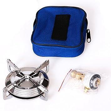 sxtspo ultraligero portátil al aire libre Picnic quemador de gas plegable camping Mini Acero Estufa caso