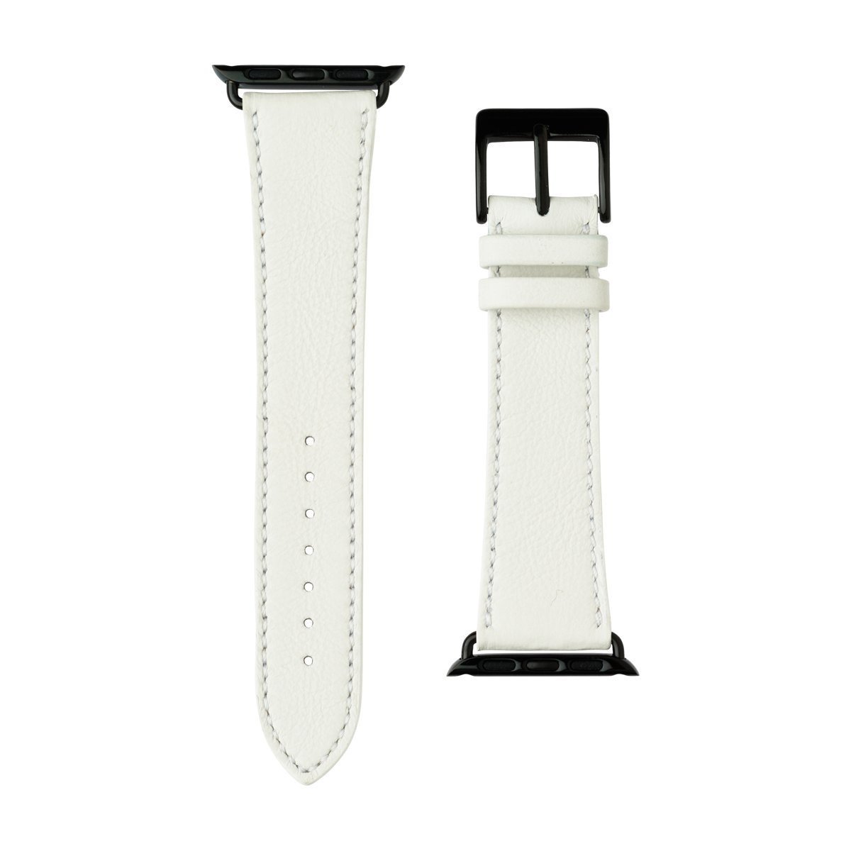 Roobaya | Premium Sauvage Leather Apple Watch Band in White | Includes Adapters matching the Color of the Apple Watch, Case Color:Space Black Stainless Steel, Size:42 mm by Roobaya (Image #2)