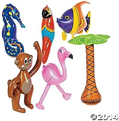 Amazon.com: 6 pc hinchable Luau decoraciones/Parrot ...