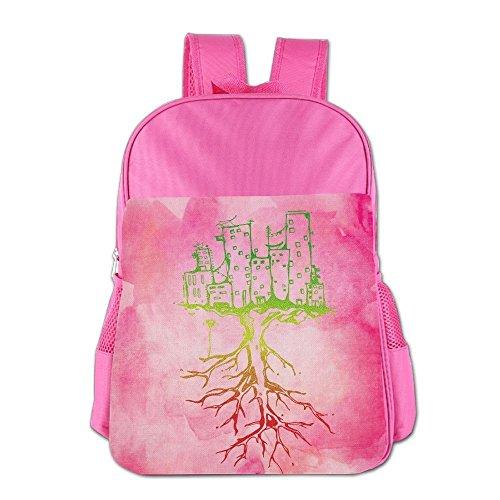 Clarissa Bertha Watercolor City Roots Rasta Reggae Roots School Girls Boys Teens Backpacks Bags by Clarissa Bertha