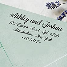 Custom Self Inking Wedding Stamp Personalized Family Address Rubber Stamp Custom Gift