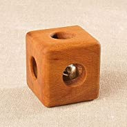 Wooden cube with bell
