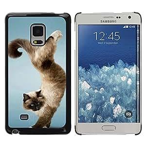 For Samsung Galaxy Mega 5.8 - Funny Beautiful Cat Trick /Caja protectora de pl???¡¯????stico duro de la cubierta Dise???¡¯???¡Ào Slim Fit/ - Super Marley