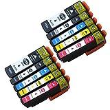 Tyjtyrjty Compatible T3351 Ink Cartridges for Epson Expression Premium XP-530 XP-630 XP-635 XP-830 Printers Compatible Epson T3357 T33XL - T3351 T3361 T3362 T3363 T3364 Compatible Inkjets