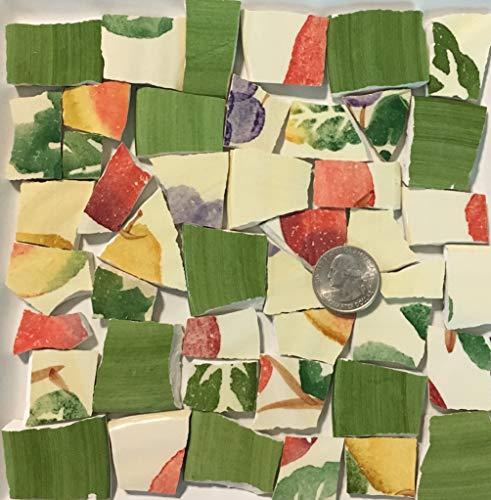 - Mosaic Art & Crafts Supply ~ Yellow Green Orange Fruit Tiles (B904)