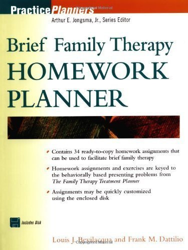 Brief Family Therapy Homework Planner by Louis J. Bevilacqua (2001-03-06)