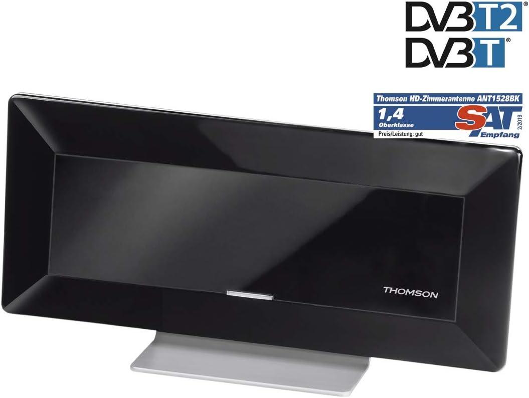 Thomson Aktive Flachantenne Für Digitalen Tv Radio Empfang Ant1528bk Dvb T Dvb T2 Dab Dab Hd 3d Mit Verstärker Rauschfilter Flach Innenantenne Zimmerantenne Küche Haushalt