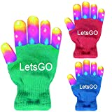 My-My Christmas Toys 2018 for Kids, Light Up Rave Gloves for Boys Girls Gifts for 3-12 Years Old Kids Christmas Cool Toys for Birthday Party Green MMJSST01
