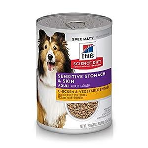 Hill's Science Diet Canned Dog Food, Adult, Sensitive Stomach & Skin, Chicken & Vegetable Entrée, 12.8 oz, 12 pk 59