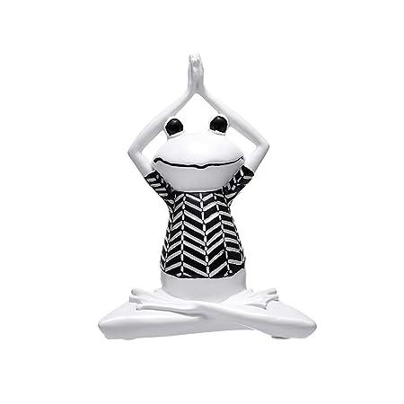 TOPofly Rana Yoga,Figura de Rana Yoga de Resina Estilo de ...