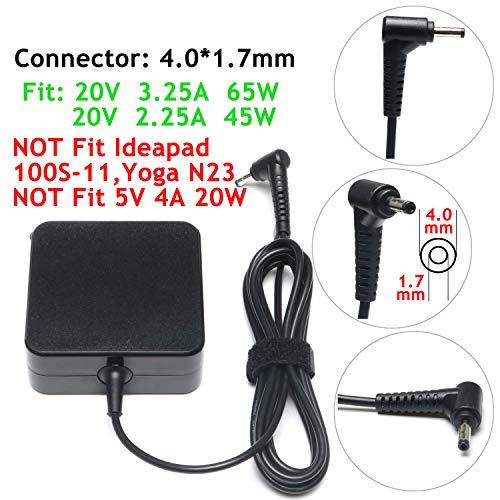 45W 65W AC Charger for Lenovo IdeaPad Flex 4 Flex 5 Flex 6 Flex 4-1470 4-1435 4-1480 4-1570 4-1580 4-1130 Flex 5-1470 5-1570 Flex 6-11IGM 6-14IKB 6-14ARR GX20K11838 Laptop Power Supply Adapter Cord