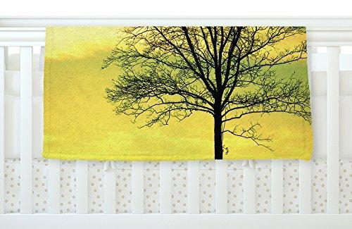 KESS InHouse Robin Dickinson Tree Sky Green Fleece Baby Blanket 40 x 30 [並行輸入品]   B077ZVYSYQ