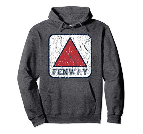 Fan of Fenway Sign Hooded Boston Distressed Baseball Hoodie