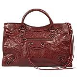 Balenciaga Women's Classic City Leather Bag, Rouge Cerise, Medium