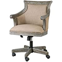 Uttermost 23175 Kimalina Linen Accent Chair