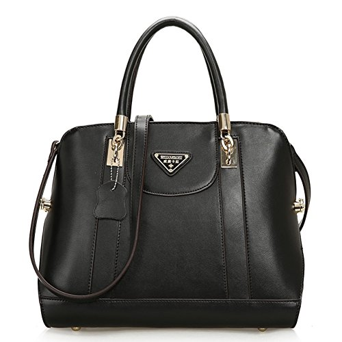 [Walcy HB900269C2 Spring Genuine Leather Europe Women's Handbag,Shell Type Commuter Bag] (Arrest Shoes Adult)