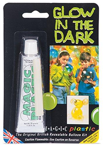 Glow In The Dark Magic Plastic Inflatable Toy Paste Creates Balloons (Fancy Dress Magic Ltd)