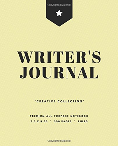 Writer's Journal: 500 Pages, Large Journal Notebook, Softcover, Pale Yellow Pinstripes (7.5 x 9.25 in.) (Creative Writing) PDF