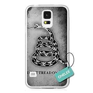 Onelee(TM) - Don't Tread On Me Snake-shaped Hard Plastic Case Cover for Samsung Galaxy S4 - White 9
