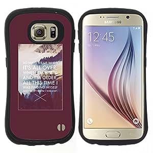 """Hypernova Slim Fit Dual Barniz Protector Caso Case Funda Para Samsung Galaxy S6 [Cita de motivación inspiradora Alaska Poster""""]"""