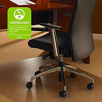 Floortex Cleartex UltiMat XXL Polycarbonate General Office Floor and Chair Mat for Hard Floor & Carpet Tile