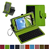 Acer Iconia ONE 7 B1-750 Micro USB Keyboard Case,Mama Mouth Rotary Stand PU Leather Cover With Removable Micro USB Keyboard for 7