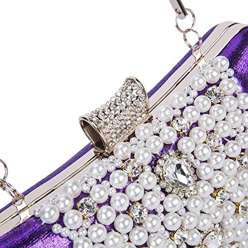 Luxury Handbag Party Shell Evening B Wedding Bag Bag Women's Crystal Fit Beautiful Pearl Purses PYAgw