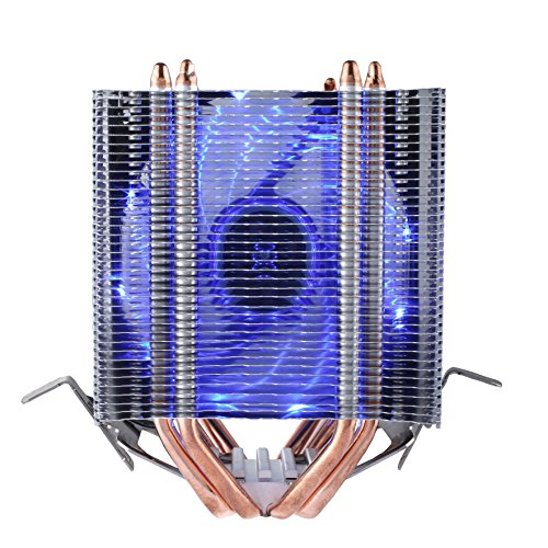 upHere Dual Tower Heat-Sink CPU Cooler with 4 Direct Contact Heatpipes, Blue LED (Blue Led Tower)