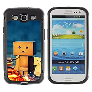 LASTONE PHONE CASE / Suave Silicona Caso Carcasa de Caucho Funda para Samsung Galaxy S3 I9300 / 3D Figurine Friendship Camping Play Art