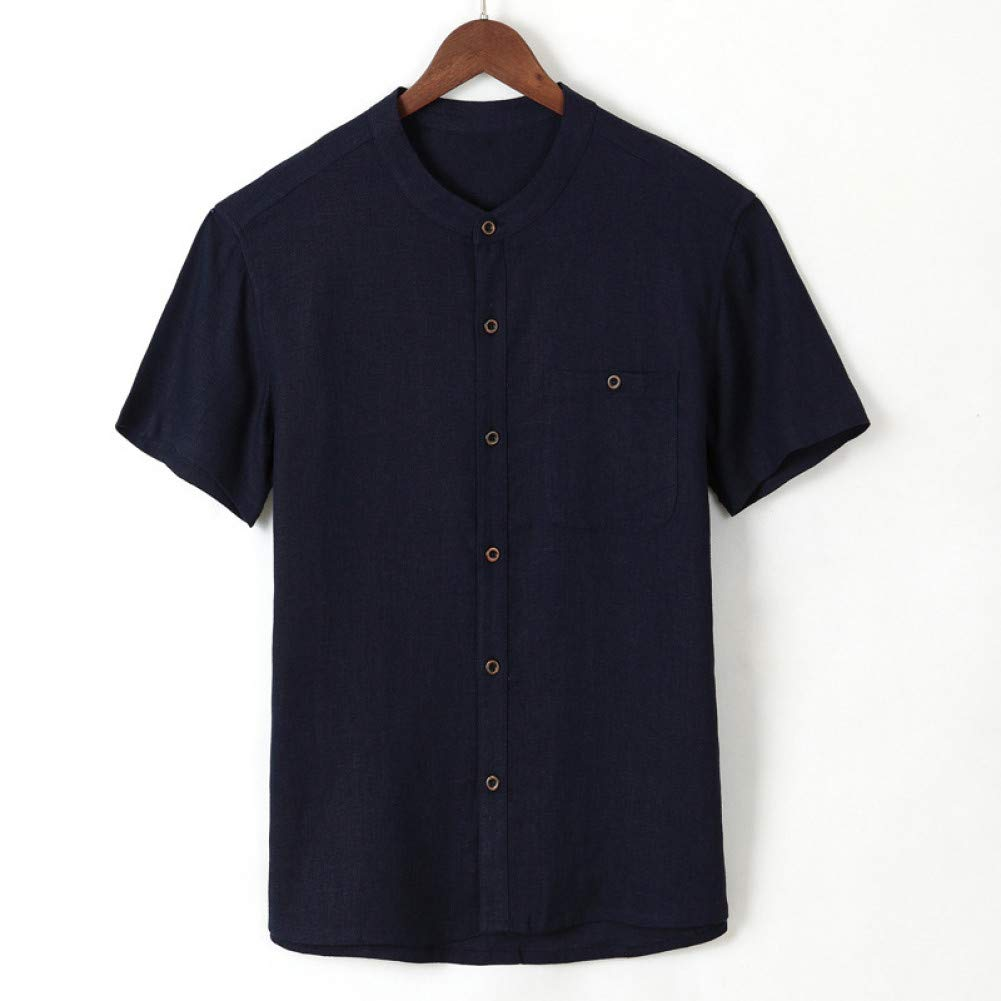 WHFDNSCS Mens Shirts Short Sleeve Button Pockets Summer Men Clothes 4XL Size Casual Shirts Beach