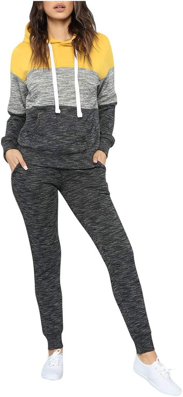 Mxjeeio 2 Piezas Chándal suéter a Juego de Color de Lana en ...