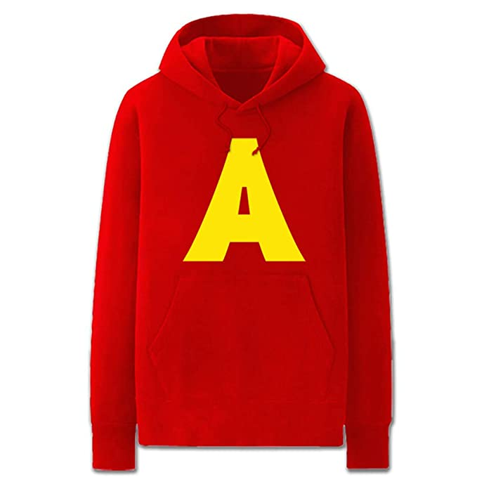 Es Unico Alvin And The Chipmunks Costume Red Hoodie Sweatshirt For Men Halloween Men Novelty More Clothing Accessories Hoodies
