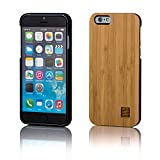 32nd® Wooden Back TPU Shell Phone Case Cover for Apple iPhone 6 6S - Made from Real Wood - Bamboo