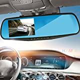 Sedeta® 1080P HD Car driving video recorder Mirror Dash Cam Rearview with Front and Back Parking Camera 2.8inch TFT