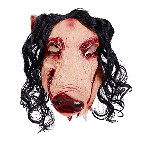 [Lisli Scary Latex Pig Head Mask for Halloween Cosplay Costume Party Decor Prop] (Sloth Goonies Costumes)