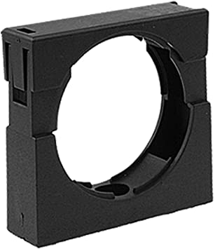 Aexit Black Plastic Clamps Fixed Support for 54.5mm Hand-Screw Clamps Bellows Pipe