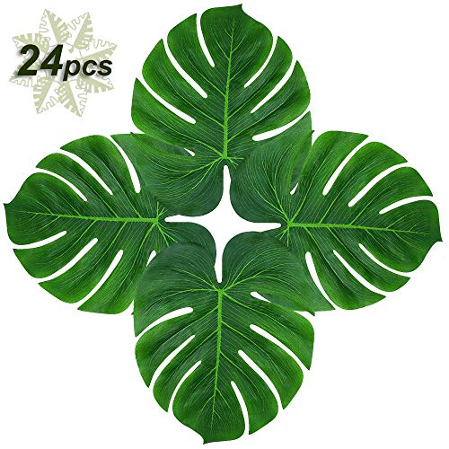 Soyee 24pcs Tropical Palm Leaves 14