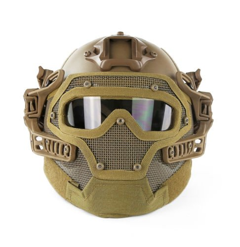 A&N Airsoft Tactical Helmet Mask with Goggles PJ Style G4 System Protective Gear in - Pj Style Helmet