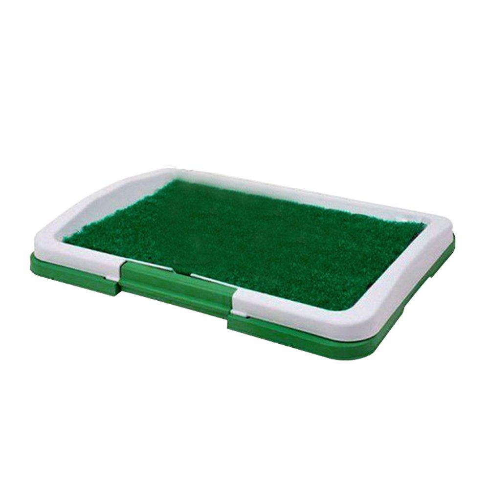 Ueetek pour animal domestique Chien Chiot Chat d'intérieur Toilettes Potty Trainer 3couches Herbe Pee Pad