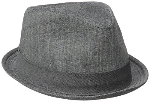 Henschel Men's Cotton Denim Fedora, Charcoal Large ()