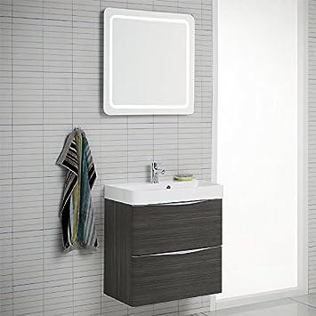 Design Badezimmer Set Hacienda Braun Badezimmermobel Waschplatz Bad