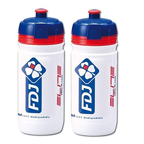 Elite Team FDJ Corsa Water Bottles - 550ml (2 Pack) by Elite