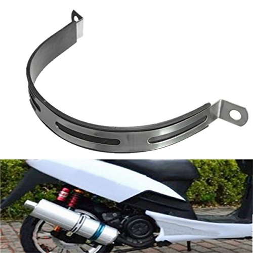 CoCocina Motorcycle Exhaust Silencer Pipe Clamp R5 R9 Hanging Strap Mount ()