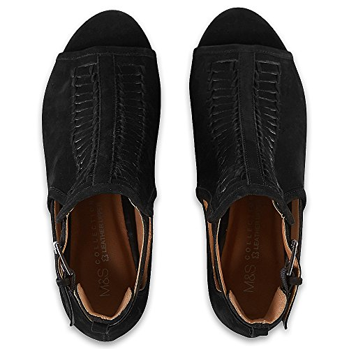 Mujer Spencer Negro De Zapatos Marks amp; Tacón FOnWXBw6qB
