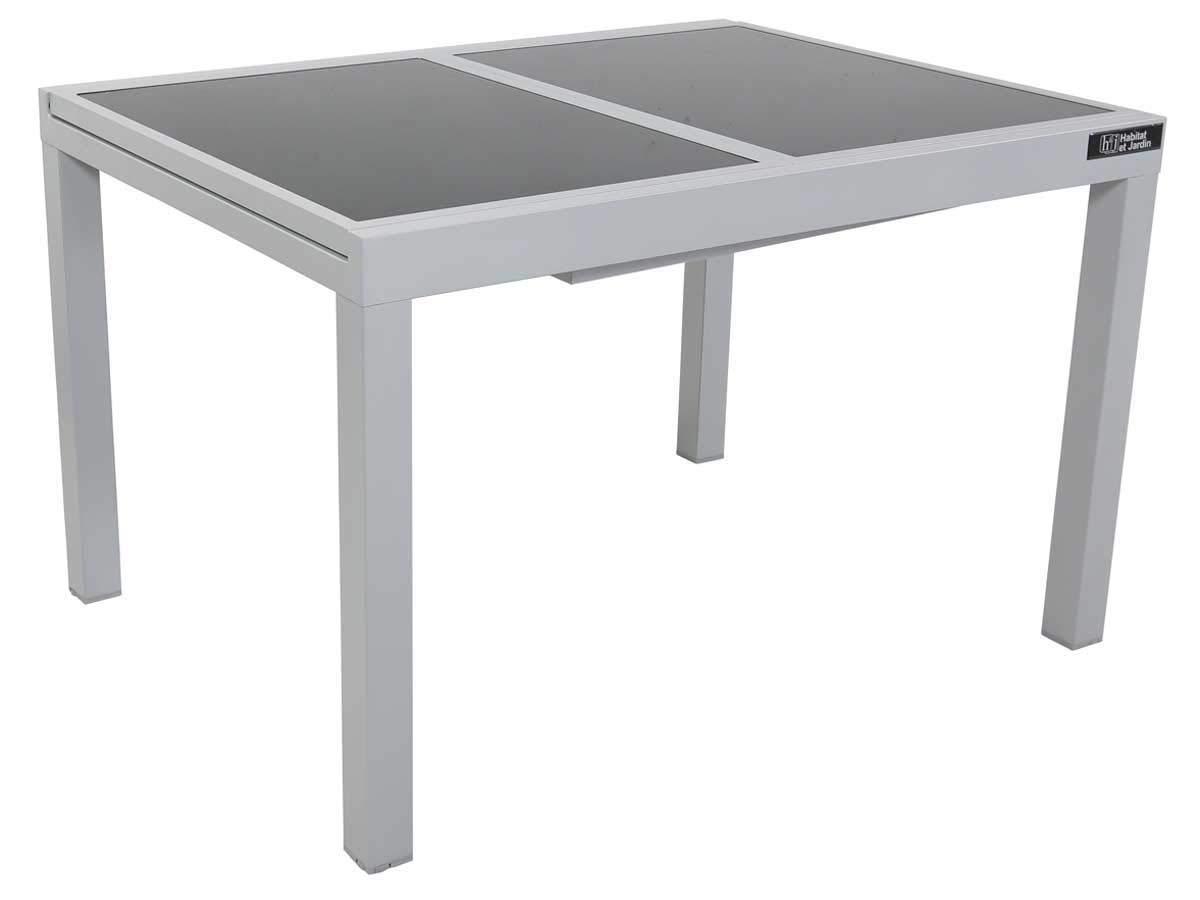 Argentato Tavolo da Giardino allungabile in Alluminio Tropic 8 Phoenix
