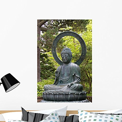 (Wallmonkeys WM290919 A Japanese Statue of The Seated Buddha Peel and Stick Wall Decals (36 in H x 24 in W), Large)