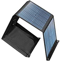 Chafon 40W/0.053Hp Universal Folding Solar Panels Chargers Mono-Crystalline with 18V Aviation DC Output for Battery UPS and USB 5V/2A Port