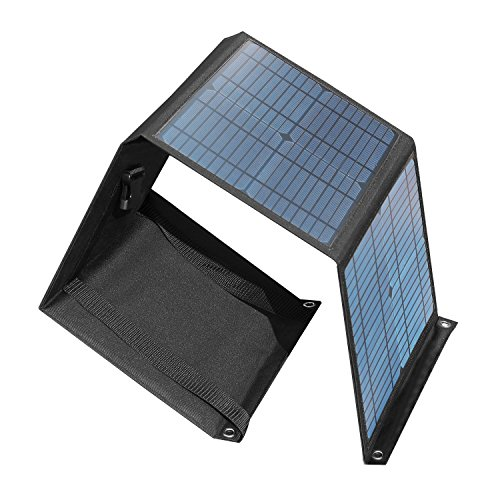 Chafon 40W/0.053Hp Universal Folding Solar Panels Chargers Mono-Crystalline with 18V Aviation DC Output for Battery UPS and USB 5V/2A Port by CHAFON