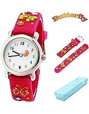 Kid's Watch Vinmori, with 3D Cute Cartoon Pattern Silicone Band Waterproof Quartz Watch Kids Children Boys Girls