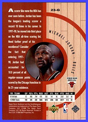 5bc6047068e48 1998 Upper Deck Hardcourt #NNO Michael Jordan Jumbo CHICAGO BULLS ...